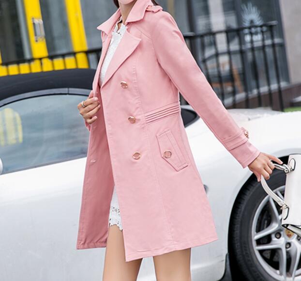 Nouvelle Noir Taille Double 2019 Mode Veste Xl Femmes À Printemps Boutonnage 7xl Grande Longue Chaude 8xqwH6