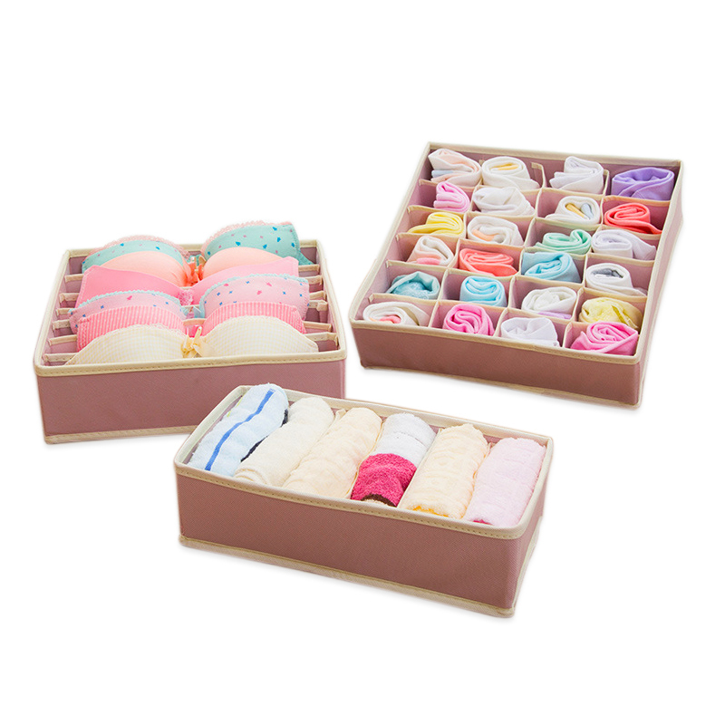 Foldable New Pattern Multicolor Underwear Bra Nothing Covering Cloth Art Arrangement Home Organizer Storage Boxes Chest Box
