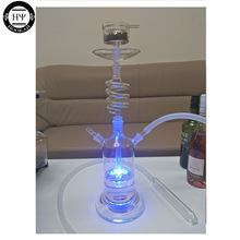 LED SPIRAL GLASS HOOKAH SHISHA ՝ LED LEIGHT և Remote Control Content CLEAN EPE FOAM PACKAGE RUSSIA USA Ֆրանսիա HOOKAH