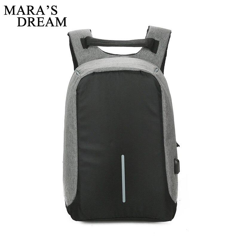 Mara's Dream USB Charge Anti Theft Backpack Men Women Travel Waterproof School Bags College Teenage Male Female Laptop Backpack