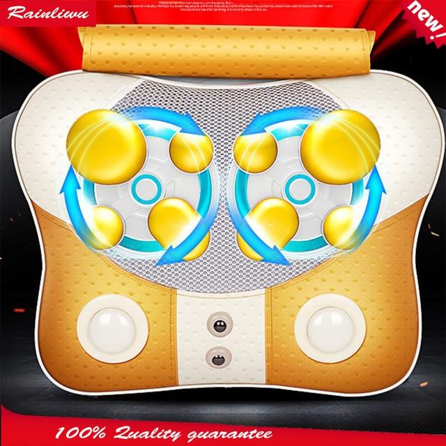 Massage Pillow Cervical Vertebra Massager Neck Waist Back Shoulder Massage Device Household Health Care Instrument