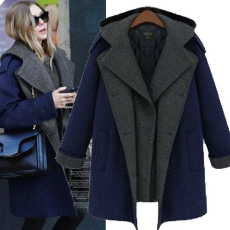 new winter women's clothing wool and blend trench cotton filler warm clothing fake two piece european maternity coat outerwear crucial technology bls4g3d1609ds1s00ceu