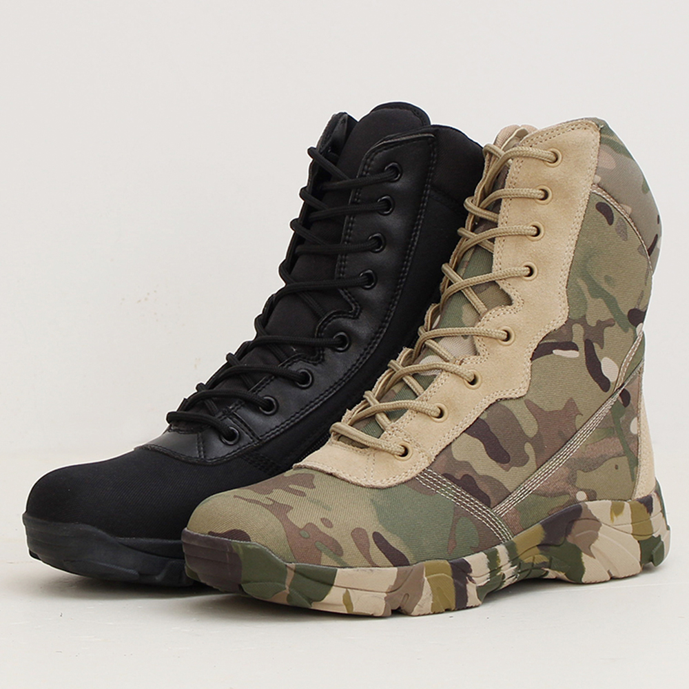 2018 Fall Camo SWAT boots Outdoor Military Tactical Hiking Shoes Climbing Combat Black Boots Sneakers Hiking Shoes for Men