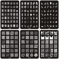 24 ШТ. 14.5*9.5 СМ Конструкции Способа DIY Ногтей Красоты Nail Art Изображение Штамповка Плиты 3D Nail Art Шаблоны трафаретов Маникюр Инструменты