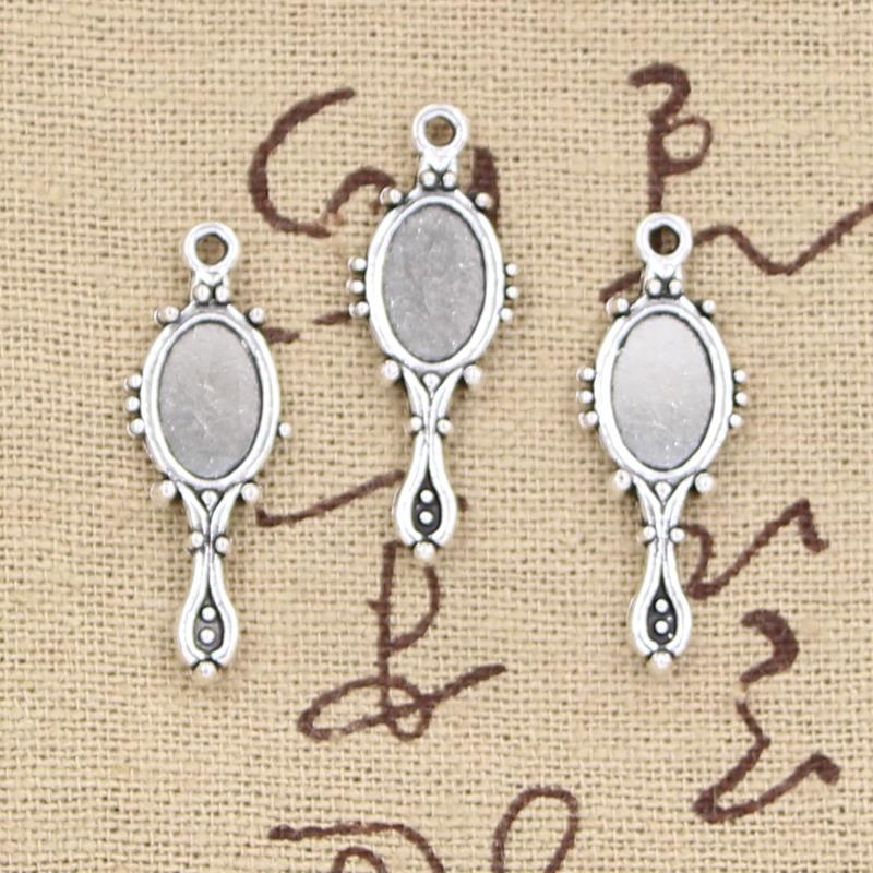 Diy Für Armband Halskette Sparen Sie 50-70% Vintage Tibetischen Silber 15 Stücke Charms Teufel Spiegel 22x9mm Antike Anhänger Fit