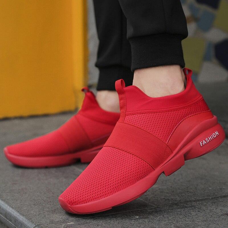 Весна/осень новые модели Мужская обувь 2018 модная удобная молодежная повседневная обувь для мужчин мягкая сетка Дизайн обувь без застежки