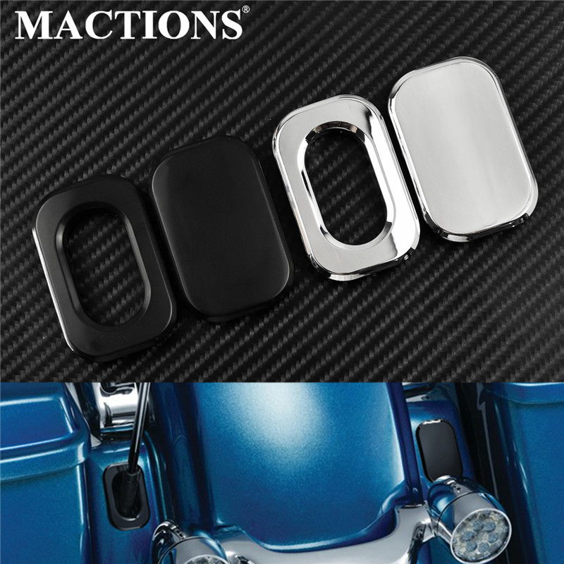 Mactions Motorcycle Antenna Pisition Trim Ring Cover For Harley Touring Road Glide Fltri 2010-2019 Street Glide Flhx 2006-2019