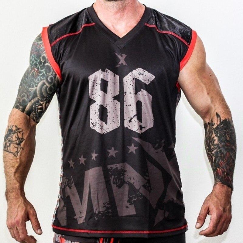 Quick Dry di Compressione Manica Corta da Uomo T-Shirt Camicia di Fitness Stretto Jersey Palestre Demix Abbigliamento Sportivo