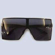 Alloy Frame Square Big Frame Sunglasses Women Brand Designer High Quality Mirror Coating Lens UV400 Protection Sun Glasses