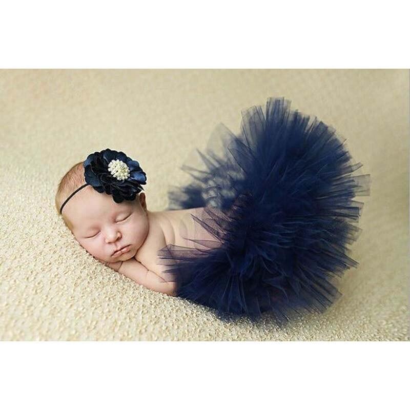 NEW-4-Colors-Newborn-Tutu-Skirt-With-Matching-Flower-Headband-Stunning-Newborn-Photo-Prop-Girl-Tutu-Skirt-1
