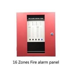 (1 Juego) 16 dispositivos de la zona de seguridad de la escuela del hogar protegen la alarma de humo Panel de Control de alarma de fuego gran capacidad número de llamada PSTN