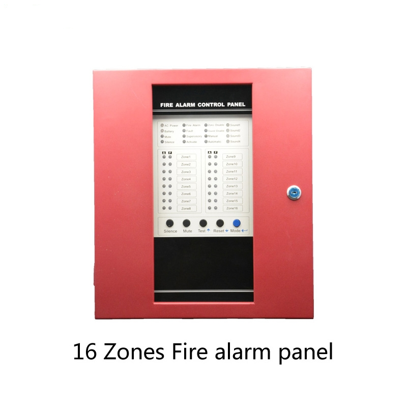 (1 Set) 16 Zone Device Home School Security Protect Smoke Alarm Fire Alarm Control Panel Strong Ability PSTN Call Number