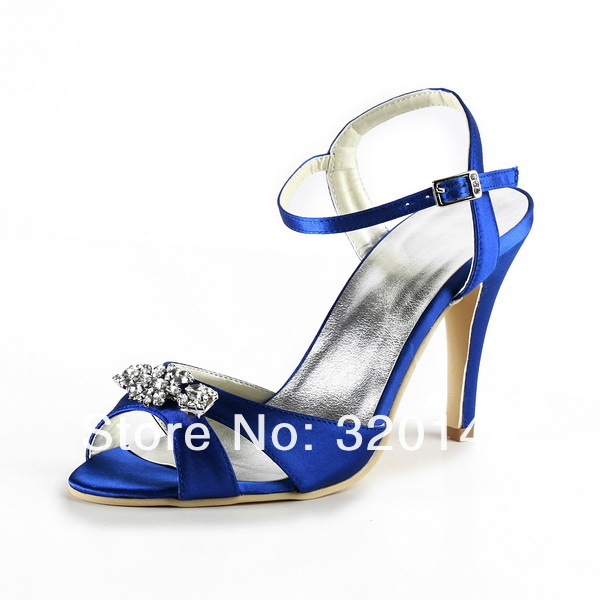 Woman Sandals Ankle Strap High Heel EP2011 Blue Size 36