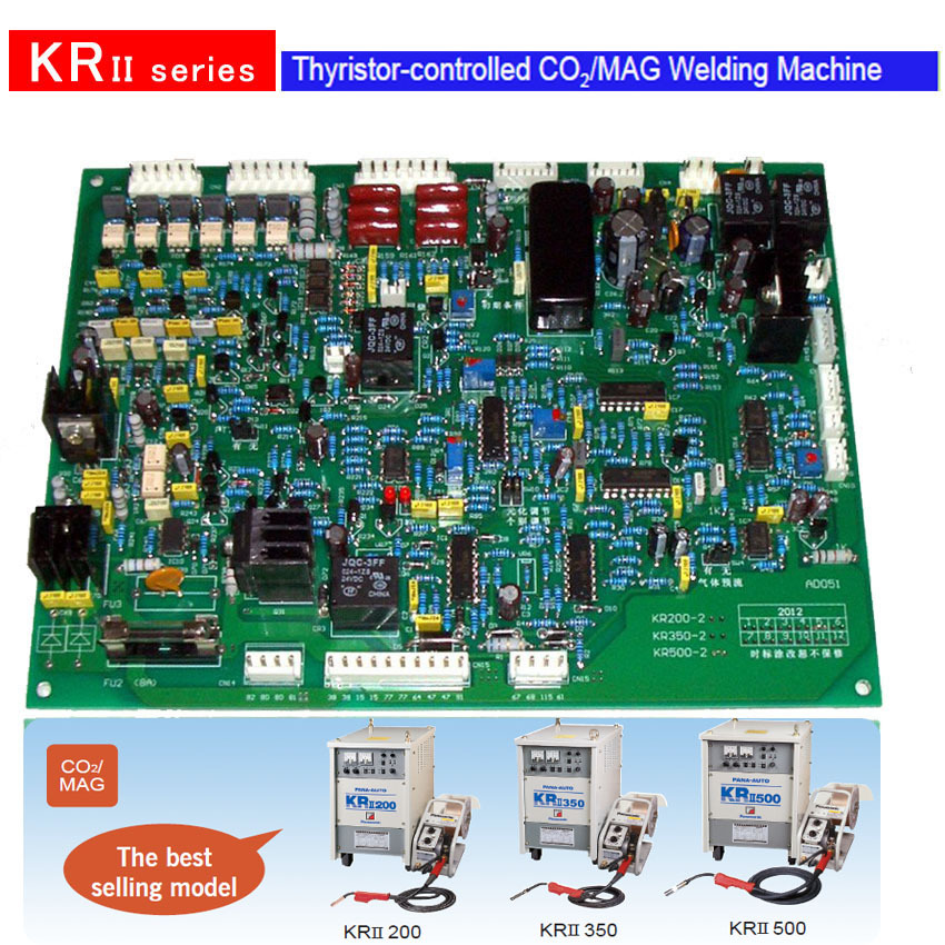 Free shipping mig welding machine KR 500 control circuit board thyristor co2/mag welder inverter electric welder circuit board general money welding machine 200 drive board