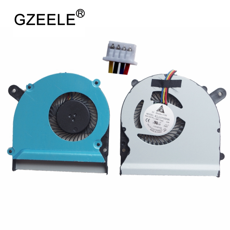 GZEELE new Laptop cpu cooling fan for ASUS S400 S400C S400CA S400E X402C X402E F402C X502C Notebook Computer Processor Cooler