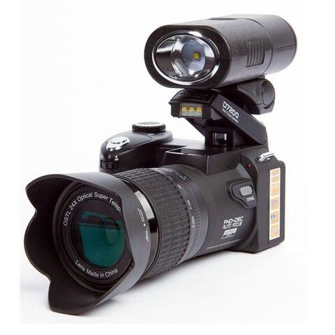 POLO D7200 Digital Camera 33MP Auto Focus Professional DSLR Camera Telephoto Lens Wide Angle Lens Appareil Photo Bag Tripod Pakistan