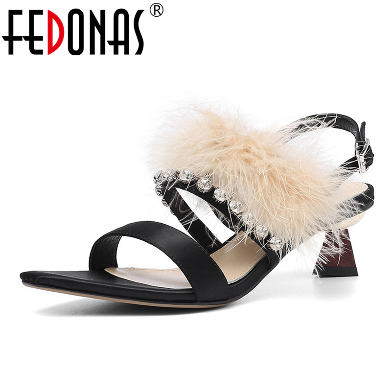 FEDONAS Elegant Silk Women Sandals 2019 New Fashion Sweet High Heels Summer Shoes Woman Wedding Party Prom Office Lady ShoesFEDONAS Elegant Silk Women Sandals 2019 New Fashion Sweet High Heels Summer Shoes Woman Wedding Party Prom Office Lady Shoes