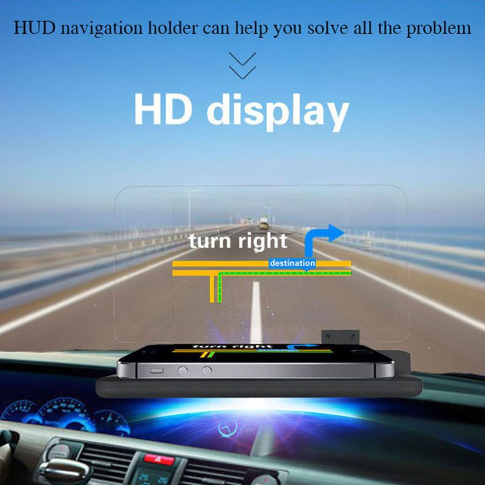 6 Inch Universal H6 Car HUD Head Up Display Projector Phone Navigation Smartphone Holder Gps Hud For Every Car