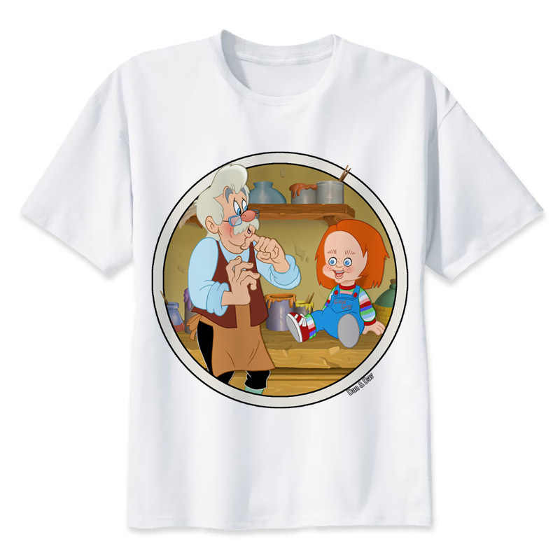 725051964dbe5 Чаки 2017 футболка для мужчин в стиле хип-хоп модная футболка мужская  футболка белая печать