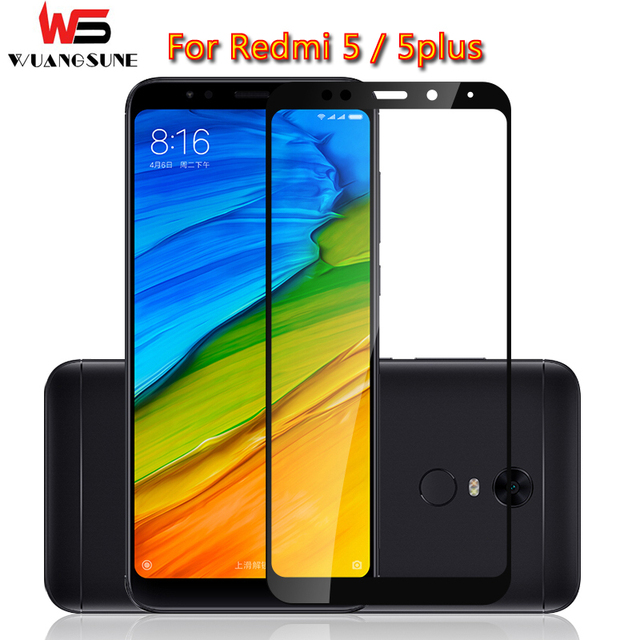 For xiaomi redmi 5 glass tempered full cover prime screen protector for redmi 5 plus Note5 Mobile phone Protective glass film