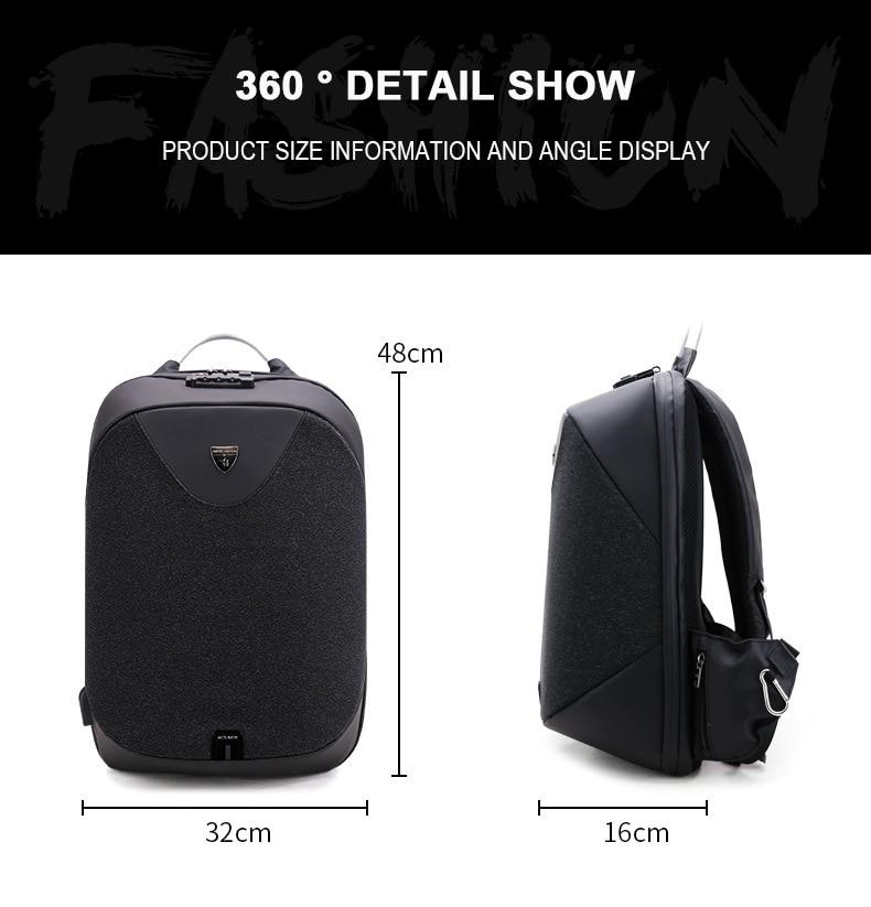 negócios 15.6 laptop backpacks mochilas portátil moda