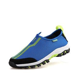 9dc9e93b199 Zapatillas de deporte transpirables de malla para Mujer, zapatillas de deporte  para caminar, calzado deportivo para hombre y Mujer