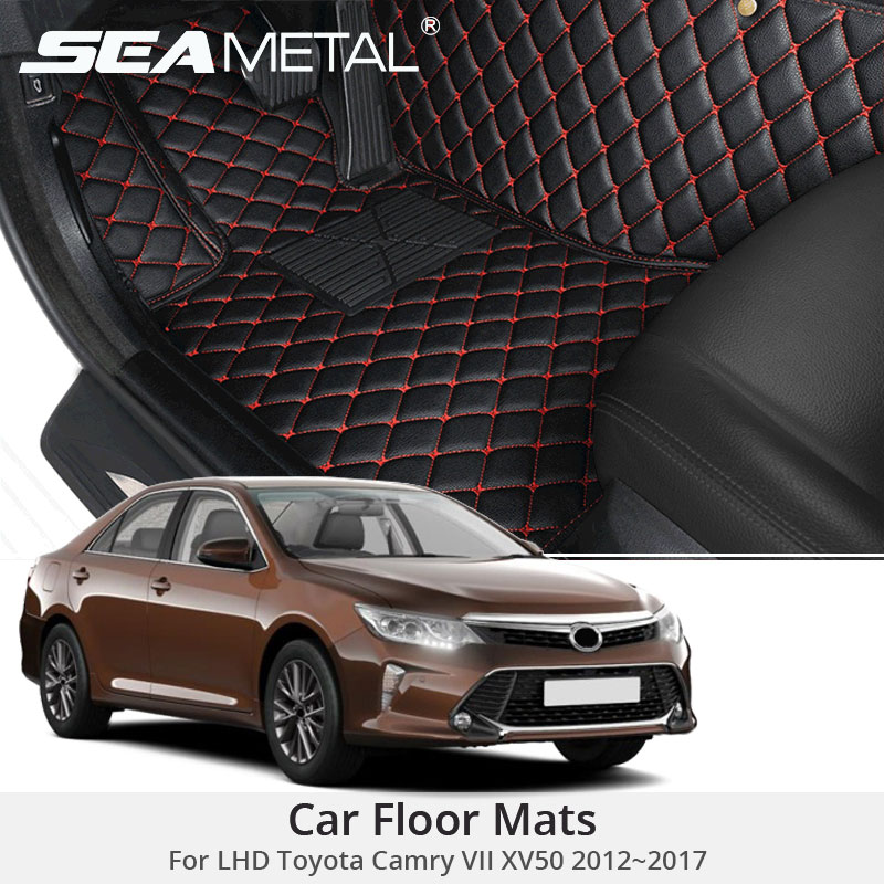 For LHD Toyota Camry XV50 2017 2016 2015 2014 2013 Car Floor Mats Custom Carpets Rugs Auto Interior Mat Accessories Car styling
