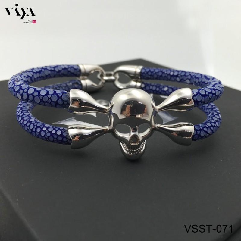 VSST-071-BLUE STINGRAY SKULLBRACELEY FOR MEN (2)