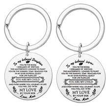 To My Beloved Son and Daughter Keychain Gift Engraved You Are The Poem Love Mom Pendant Key Chain Charms Brithday