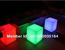 Magic led illuminated furniture waterproof outdoor 30 30 30CM led cube chair bar stools wedding party