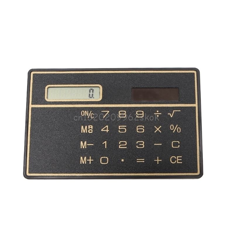 Calculator Ultra Thin Mini Credit Card Sized 8 Digit Solar