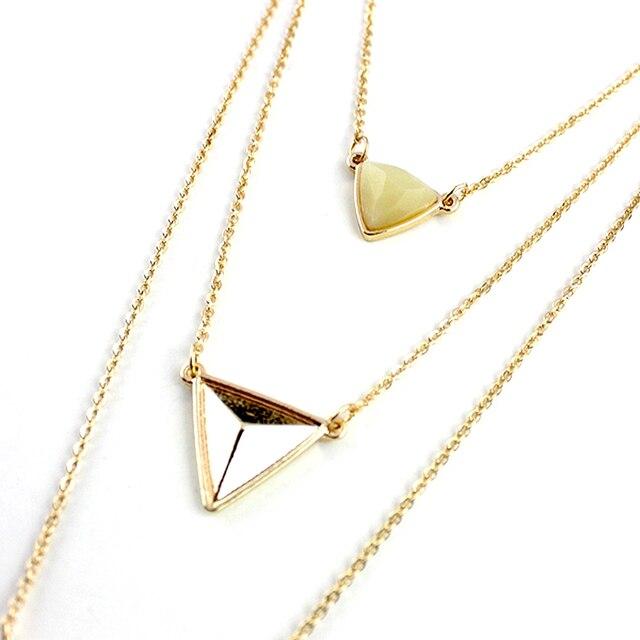 Chicvie Винтажные Ювелирные изделия треугольные массивные ожерелья