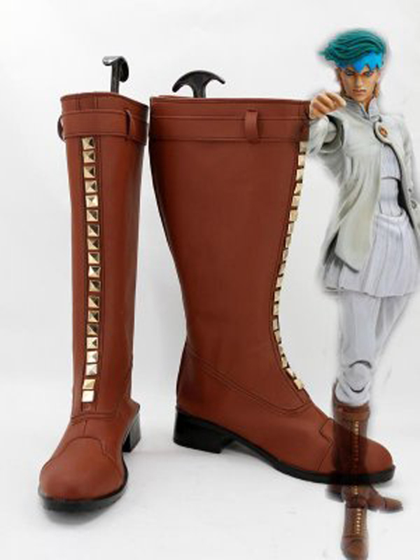 JOJO Rohan Kishibe Cosplay Boots Shoes Men Cosplay Costume Party Shoes Custom Made Boots