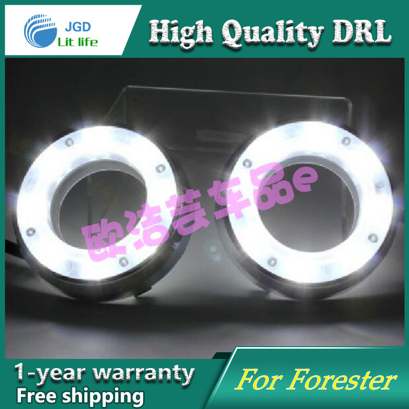 Car styling 12V 6000k LED DRL Daytime running light case for Subaru Forester 2009 2010 2011 2012 fog lamp frame Fog light 2009 2011 year golf 6 led daytime running light