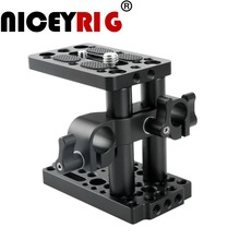NICEYRIG Riser Quick Release Plate with 15mm Rod Clamp Short Rod DSLR Camera  Easy Base Plate Camera Cheese Tripod 1/4 3/8 Screw