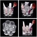 1pc Acrylic Brush Pot Shape Cosmetic Storage Organizer Crystal Make Up Cosmetic Organizer Storage Case Box Makeup Pen Box