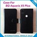 ¡ Caliente! BQ Aquaris X5 Plus Caso Precio de Fábrica de Alta Calidad de Cuero exclusivo Cubierta Del Teléfono Bolsa de la Carpeta para BQ Aquaris X5 Plus de seguimiento