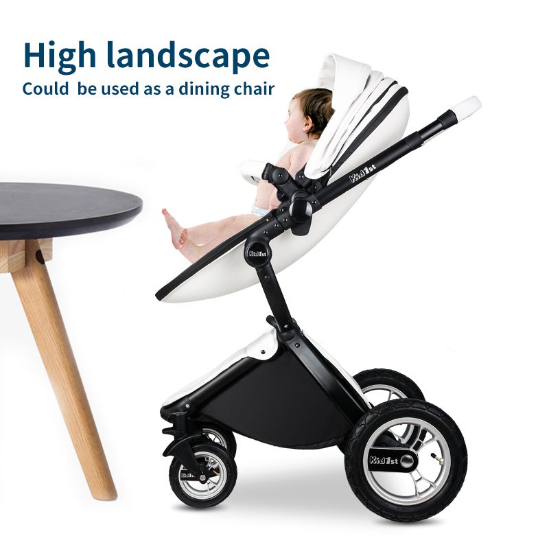 EU 2 in 1 Kinderwagen multifunctionele Luxe Kinderwagen Vouwen Ultra Licht Kan zitten kan worden liggen Kind Trolley 3