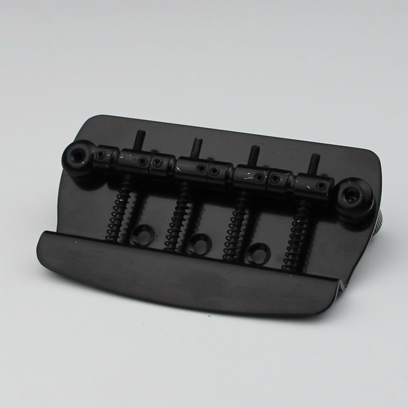 New 4 String Hard Tail Fixed Bass Electric Guitar Bridge MMB-4 Black