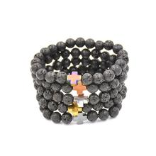 The Hot Fashion Women And Men Bracelet Classic Style Elastic Beaded Bracelet Tibet Charm Bracelets Chic Trendy Designed Bracele(China)