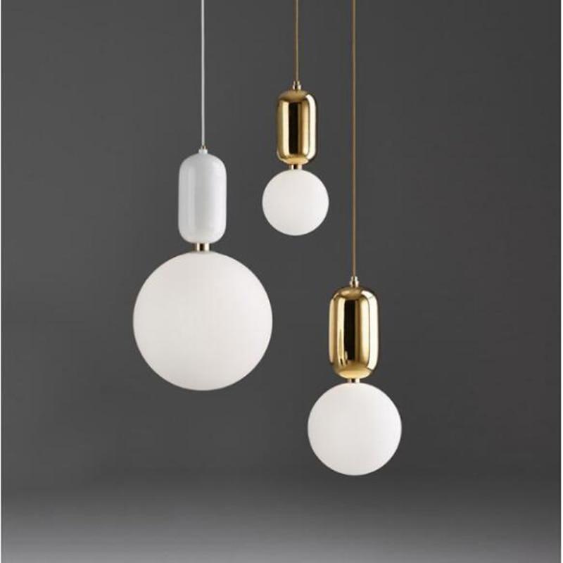 Modern LED Pendant light europe glass ball Indoor lighting novel Hanging lamp Restaurant Bedroom bar shop vintgae light fixture