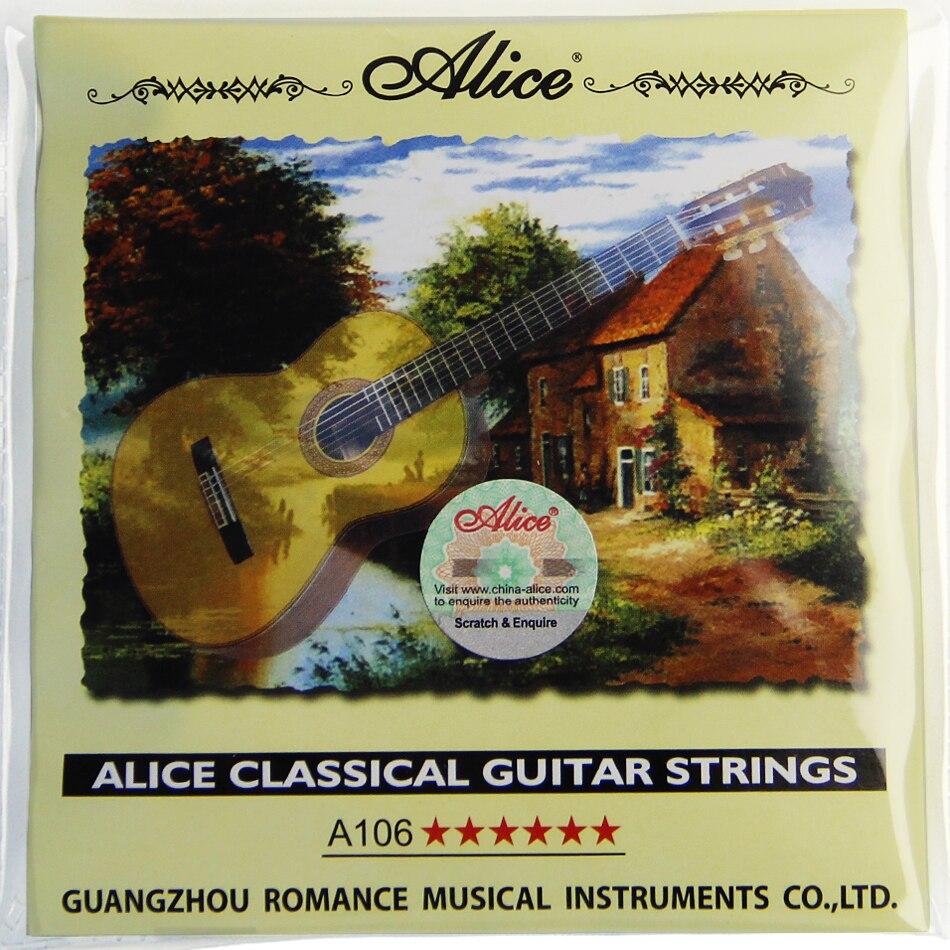 Новые нейлоновые струны для гитары Alice A106 guitar string tune guitar santanaguitar to computer cable   АлиЭкспресс