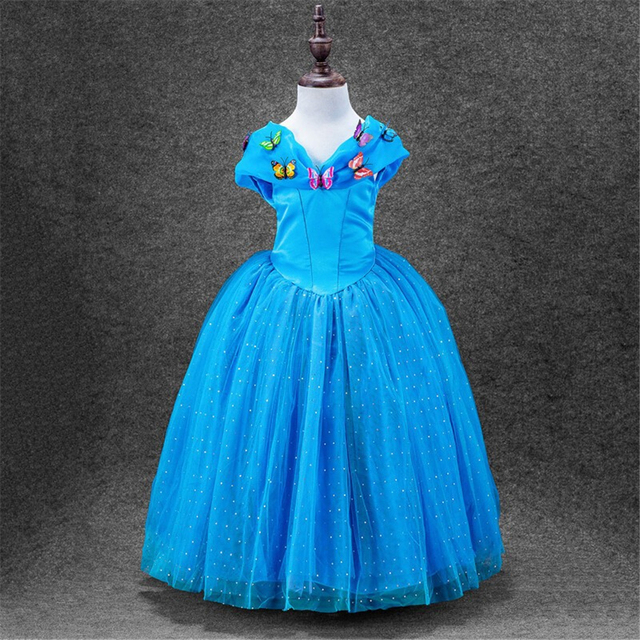 Kids Cosplay Costume Dress Cinderella Elsa Baby Girls: Aliexpress.com : Buy New Baby Girl's Movies Cinderella