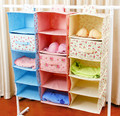 Hot selling household necessary cloth hanging type storage bag multilayer wardrobe sorting box storage drawer