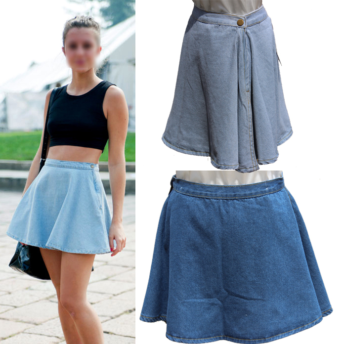 Compare Prices on Denim Flare Skirt- Online Shopping/Buy Low Price ...