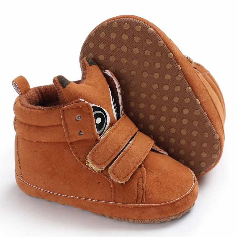 Детские ботинки; модель 2018 года; повседневная детская обувь для девочек; нескользящая Осенняя модная обувь для мальчиков; мягкие ботинки; Милая зимняя обувь