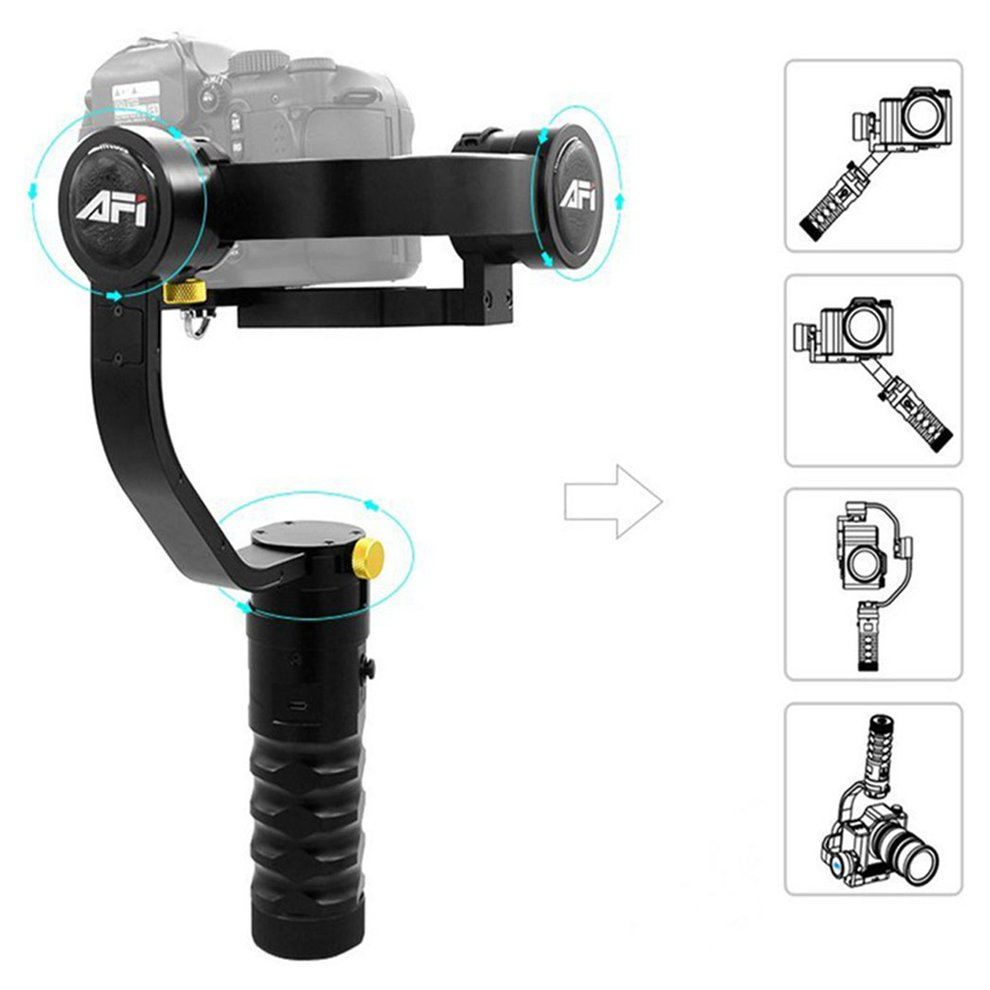 AFI VS-3SD 3-Axis Camera Gimbal Handheld Stabilizer Selfie Stick Accessory 1.7KG Max Load For Mirrorless Camera bestablecam h4 rtf brushless handheld encoder mirrorless digital camera gimbal gyro stabilizer for gh3 gh4 a7s nex5 bmpcc