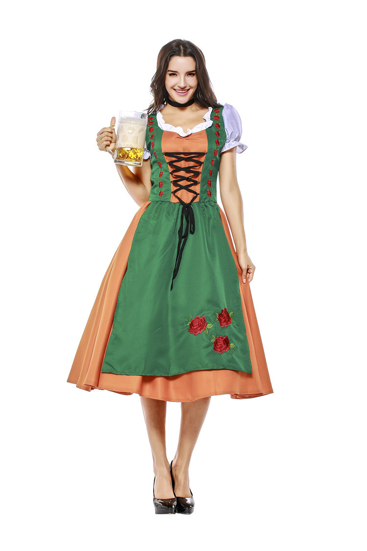 Germany Beer Costume Women Oktoberfest Dirndl Tradition Bavaria Festival Beer Party Fancy Dress