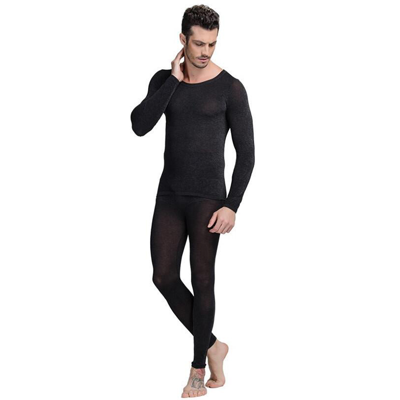 d2c660b1f9d Seamless Winter 37 Degree Men Slimming Warm Thermal Underwear Ultrathin  Heat Long Johns Super Elastic Thin Body Suit For Homme-in Long Johns from  Underwear ...
