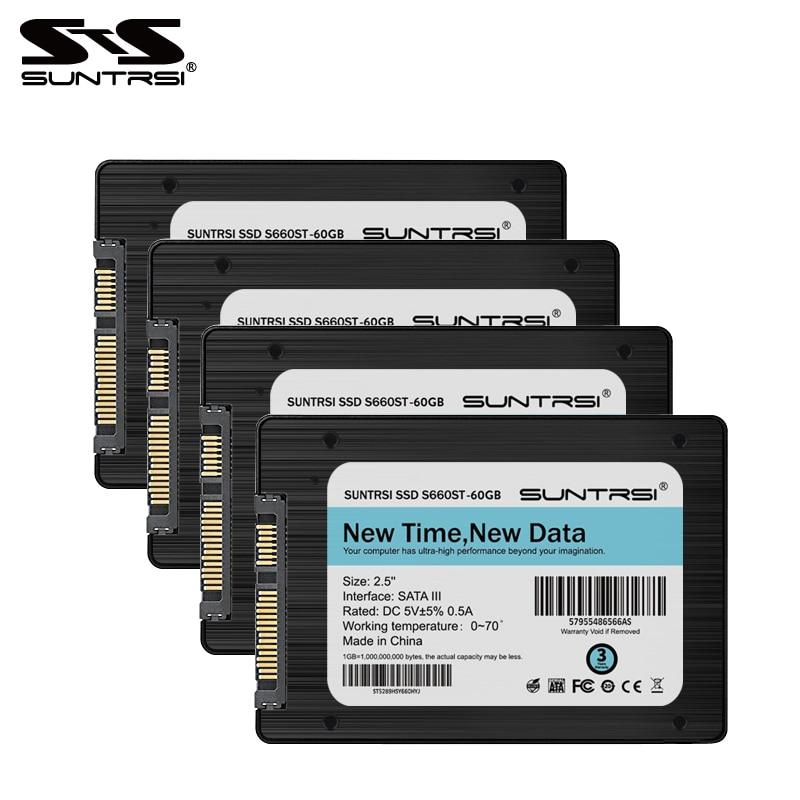 Suntrsi 2,5 дюймов Внутренний твердотельный диск 60 ГБ 120 ГБ SSD 240 ГБ жесткий диск с SATA3 кабель Высокое качество HDD SSD диск